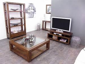 Bibliothèque Basse Bois : biblioth que ouverte holly 3 tag res 2 tiroirs meubles bois massif ~ Teatrodelosmanantiales.com Idées de Décoration