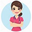 護士 · 粉紅色 · 制服 · 美麗 · 年輕 · 專業的 - 插圖 © Kakigori (#8775900) | Stockfresh