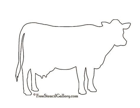 cow template cow silhouette stencil future home a cow stencils and search