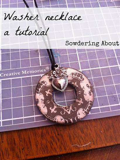Washer Necklace Tutorial Jewelry Necklaces Crafts Diy