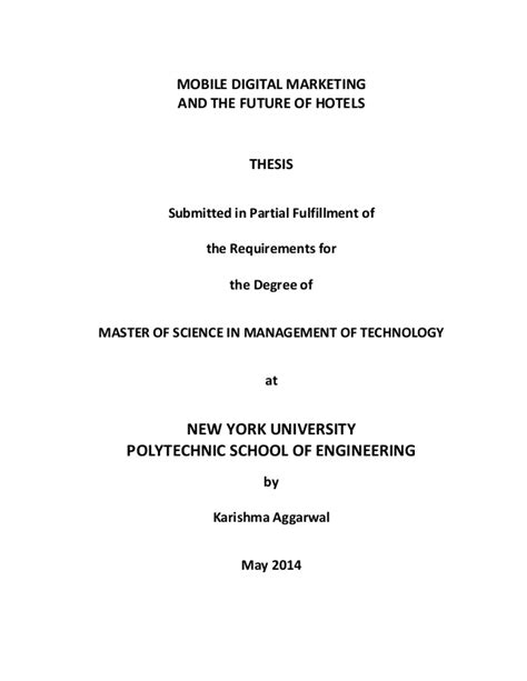 Digital Marketing Masters Programs by Masters Thesis New York Mobile Digital