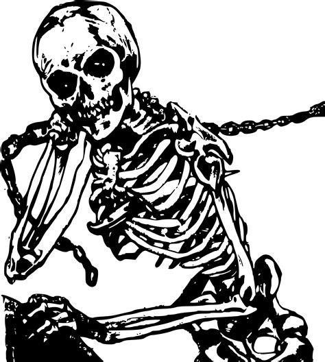 evil skeleton body clipart clipground