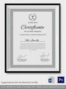 Course Completion Certificate Format Word Training Certificate Template 14 Free Word Pdf Psd Format