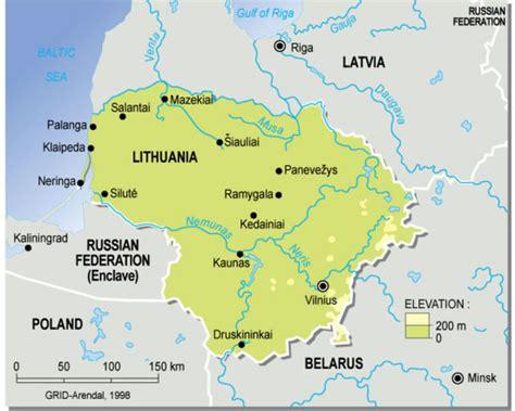 Résultat d'images pour carte lituanie détaillée