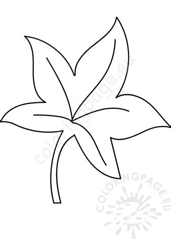 autumn leaf template  coloring page