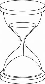 Hourglass Line Clock Clip Tattoo Sand Drawing Coloring Broken Drawings Printable Sanduhr Lineart Outline Sketch Template Arena Reloj Zeichnung Vorlagen sketch template