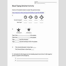 Blood Typing Internet Activity