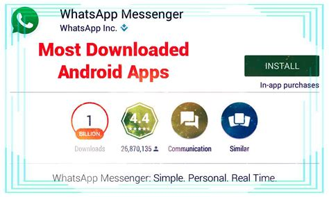 most downloaded android most downloaded android apps on play store