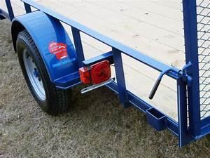 Single Axle Trailer W  Side Rails