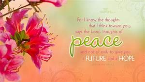 Jeremiah 29:11 - Thoughts of Peace Wallpaper - Christian ...