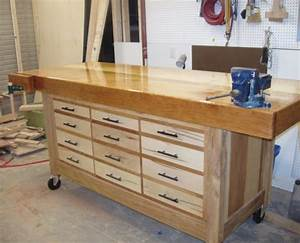 Workbench Plans - DIY Adjustable Height Wood Workbench Plans
