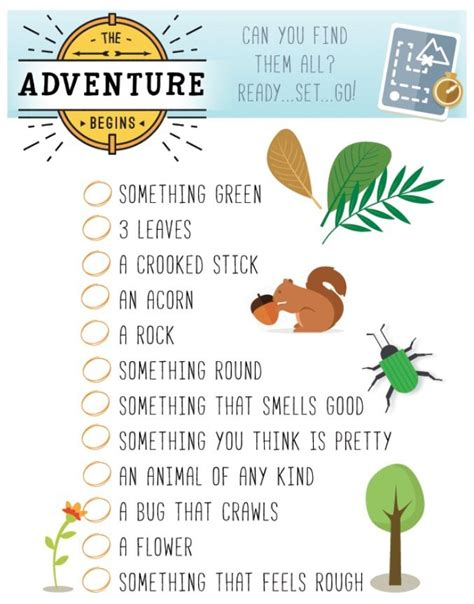 nature scavenger hunt  kids scavenger hunts