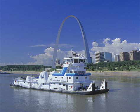 Tow Boat Company by Memco Towboat In St Louis Photograph By Garry Mcmichael