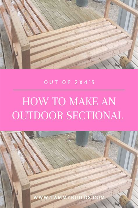 build  outdoor sectional   diy furniture