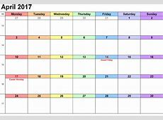 2017 Blank Weekly Calendar with Notes Colorful Loving