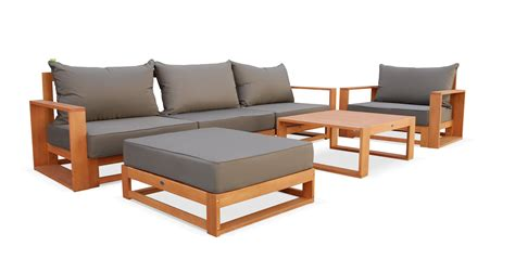 canape teck beautiful salon de jardin bois canape contemporary