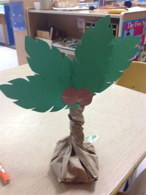 palm tree craft beans   paper bag twist  staple