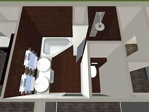 Plan 3d Salle De Bain : salle de bain 3d ~ Melissatoandfro.com Idées de Décoration