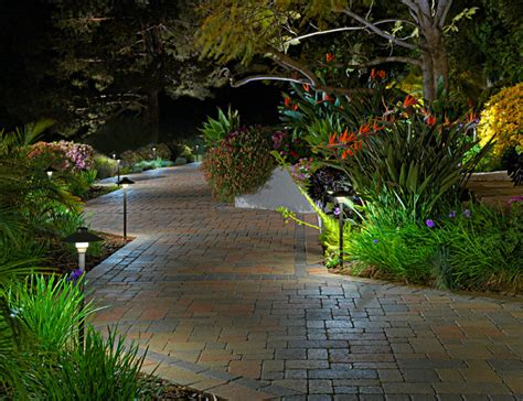 outdoor lighting mediterranean landscape orange