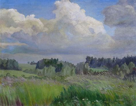 Lauku skats - Grotuss Hugo Kārlis - Klasiskās mākslas galerija ANTONIJA