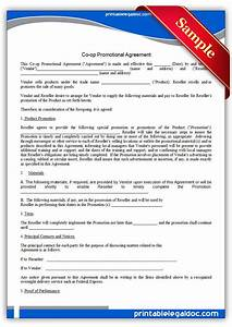 free printable co op promotional agreement sample With co promotion agreement template