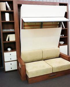 Murphy bed sofa combo the london wallbed company squadra for Diy convertible sofa bed