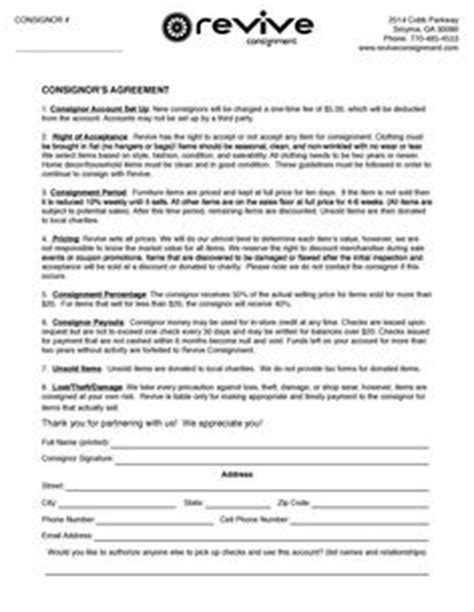 clothing consignment contract template scope  work