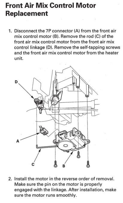 2006 Honda Pilot HVAC clicking/fluttering noises - Honda