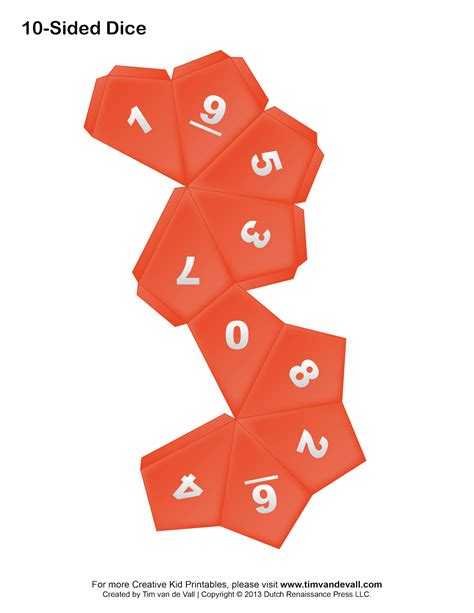 Dice Template Printable Paper Dice Template Pdf Make Your Own 6 10