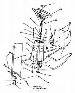 Snapper 381451hbve  84393  38 U0026quot  14 Hp Rer Hydro Drive Series 1 Parts Diagram For Steering Assembly