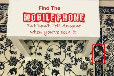 can the search your phone can you spot the mobile phone on this rug the optical