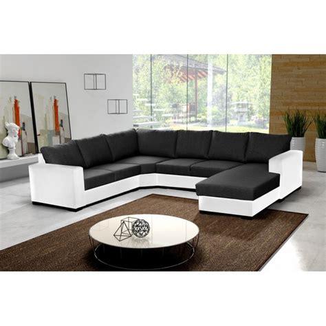 canapé avec méridienne pas cher canapé en u panoramique 6 à 7 places moderne et design