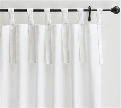 textured cotton tie top drape 50 x 63 quot white