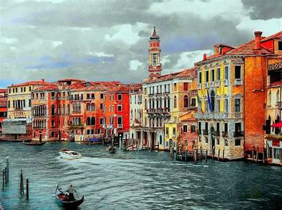 Venice Italy Canal Grand Gondola Background Wallpapers