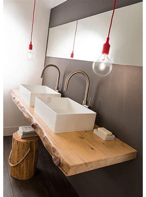 mensola legno per lavabo da appoggio un opera d arte la mensola per piano lavabo in legno