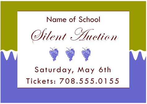 Silent Auction Invitation Flyer Template Small Business Silent Auction Template Silent Auction Flyer Template