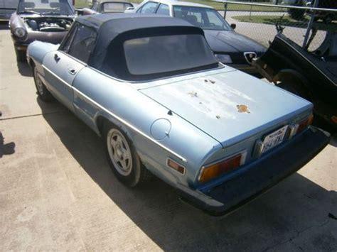 Alfa Romeo Parts Usa by Buy New 1982 Alfa Romeo Spider Parts Car In Fort Worth