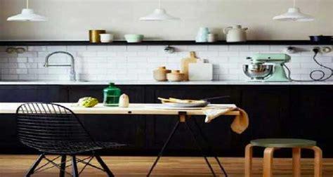 revetement cuisine plan de travail la cuisine scandinave affiche style en déco de cuisine