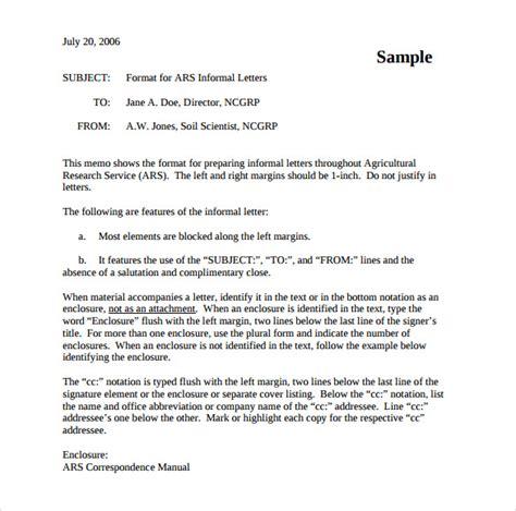 informal letter format   samples examples format