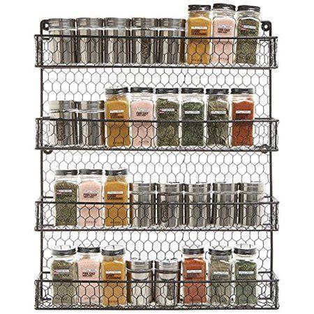 metal spice rack kitchen wall mount  tier metal wire spices organizer pantry cabinet chicken