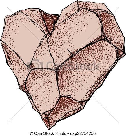 Corazón de piedra Forma de corazón de piedra eps8 cmyk