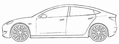 Tesla Coloring Template Coloringpagez Cars Drawing Cool