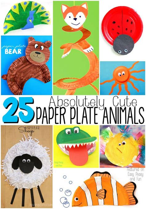 adorable paper plate animal crafts easy peasy and 826 | Absolutely Cute Paper Plate Animals