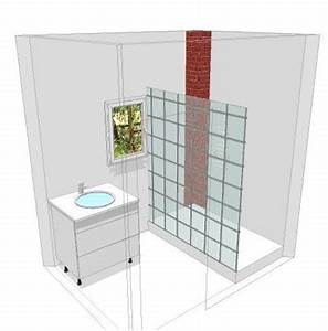 deux salles de bain a refaire en mosaique blanche help With porte de douche coulissante avec deboucher canalisation salle de bain