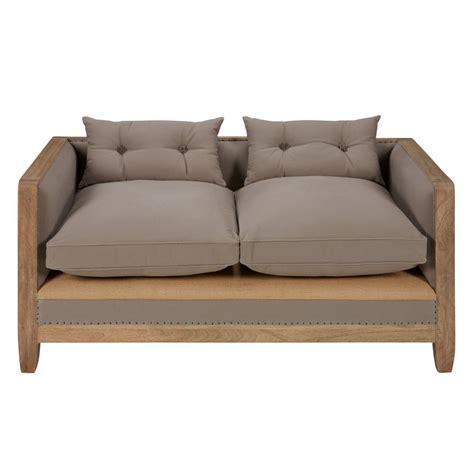 canapé 2 places gris canapé 2 places en coton gris merimee maisons du monde