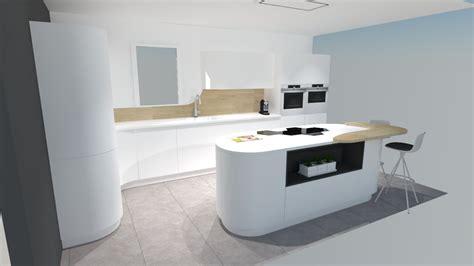 cuisine moderne bois cuisine moderne blanche et bois