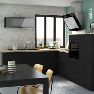 Joint D étanchéité Plan De Travail : plinthe de cuisine ginko noir avec joint d 39 tanch it ~ Dailycaller-alerts.com Idées de Décoration