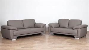 Sofa 2 3 Sitzer : sofa laura 2 sitzer bezug greige f e massiv silber mit nosagfederung ~ Bigdaddyawards.com Haus und Dekorationen