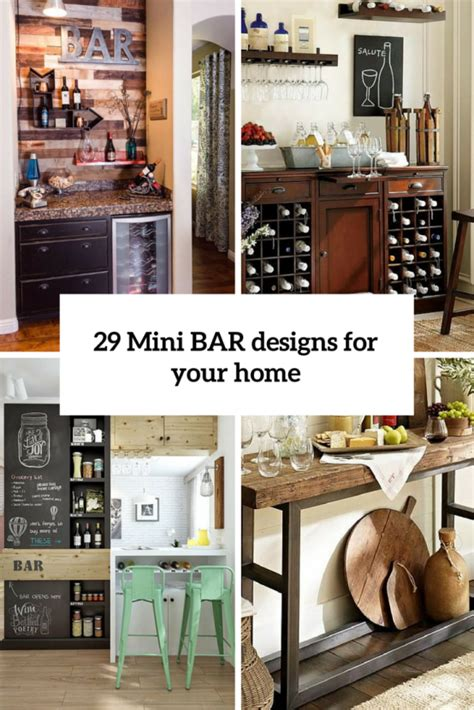 House Mini Bar Design by 29 Mini Bar Designs That You Should Try For Your Home