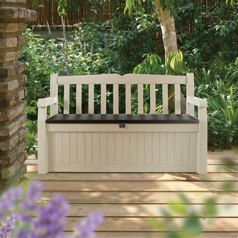 new durable outdoor garden storage box bench seat for